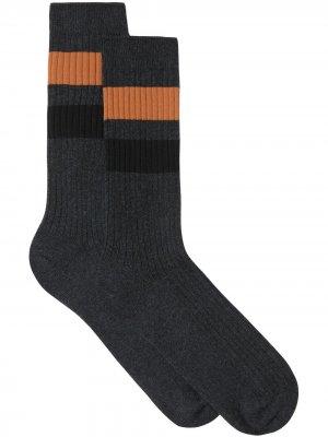 Носки с полосками Burberry. Цвет: серый