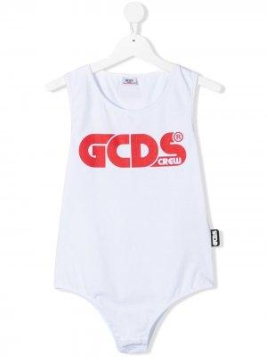 Боди с логотипом Gcds Kids. Цвет: белый
