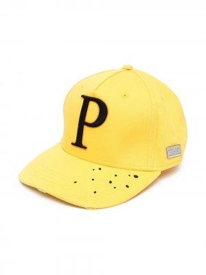 Бейсболка с вышитым логотипом Philipp Plein. Цвет: желтый