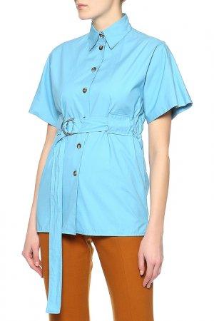Блуза Celine. Цвет: голубой
