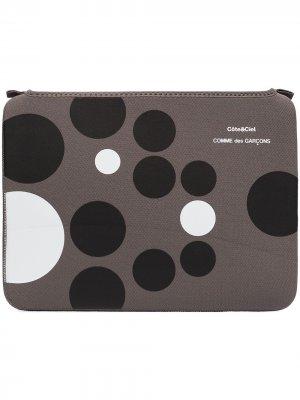 Чехол для MacBook Air 13 дюймов из коллаборации с Côte & Ciel Comme Des Garçons Wallet. Цвет: серый