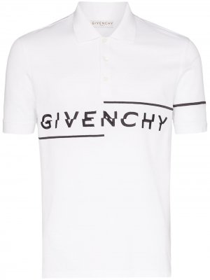 Рубашка-поло с логотипом Givenchy. Цвет: белый