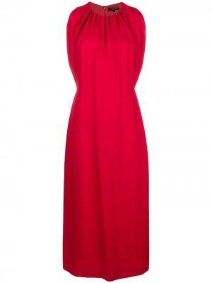 Платье без рукавов и сборкой на горловине Derek Lam. Цвет: красный