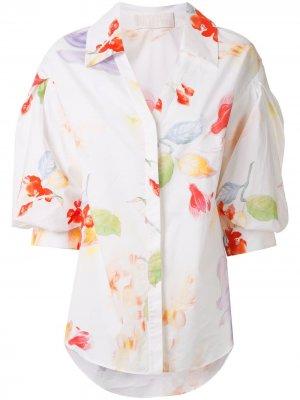 Рубашка с цветочным принтом Peter Pilotto. Цвет: белый