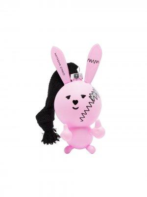 Новогодняя игрушка в виде кролика Natasha Zinko. Цвет: розовый