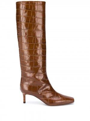 LAutre Chose сапоги с тиснением под кожу крокодила L'Autre. Цвет: коричневый