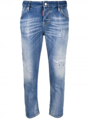 Укороченные джинсы бойфренды Dsquared2. Цвет: синий