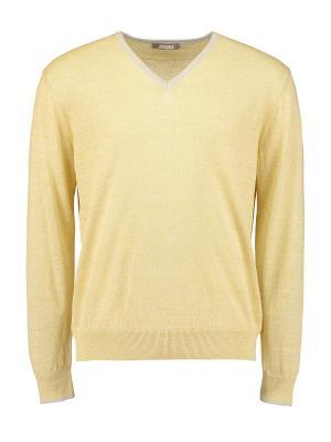 Пуловер Andrea Fenzi. Цвет: желтый
