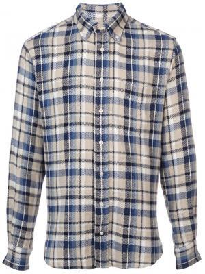 Фланелевая рубашка Montana Gitman Vintage. Цвет: белый