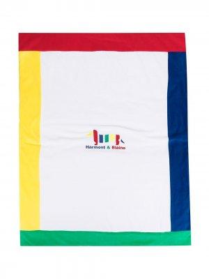 Одеяло с окантовкой в стиле колор-блок Harmont & Blaine Junior. Цвет: белый