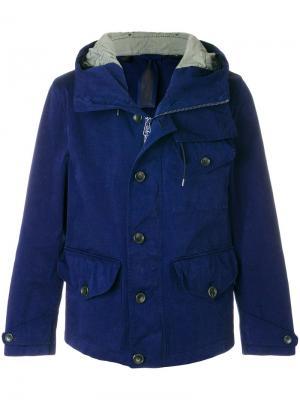 Куртка с капюшоном Ten C. Цвет: синий