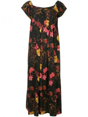 Rachel floral-print dress Mother Of Pearl. Цвет: черный