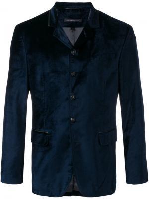 Пиджак с застежкой на пуговицы John Varvatos. Цвет: синий