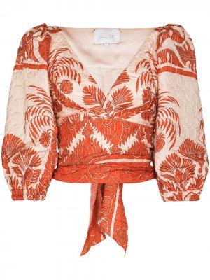 Блузка Astral с цветочным принтом Johanna Ortiz. Цвет: красный