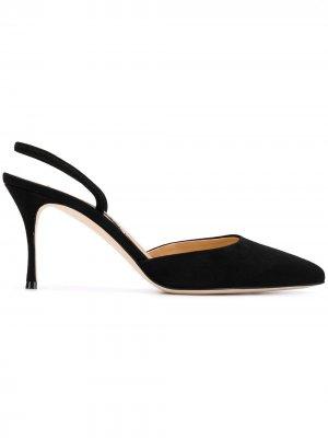 Туфли-лодочки Godiva с открытой пяткой Sergio Rossi. Цвет: черный