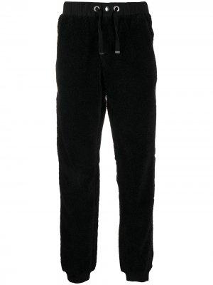 Флисовые спортивные брюки со вставками Parajumpers. Цвет: черный