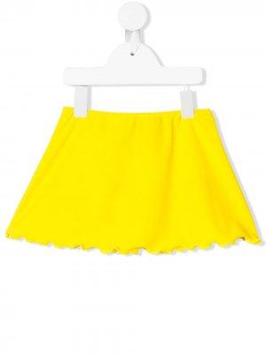 Пляжные шорты с фестонами John Richmond Junior. Цвет: желтый