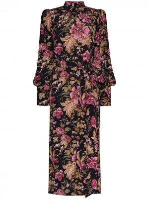 Платье миди Lucky Zimmermann. Цвет: розовый