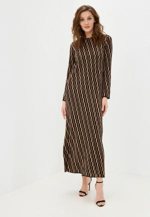 Платье Stefanel. Цвет: коричневый