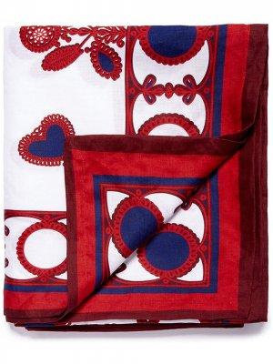 Большая скатерть с принтом La Doublej. Цвет: белый