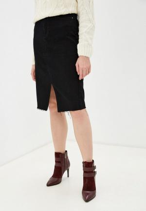 Юбка джинсовая OVS. Цвет: черный