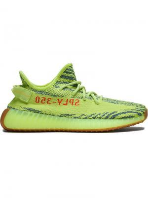 Кроссовки Adidas x  Boost 350 V2 Semi Frozen Yellow Yeezy. Цвет: зеленый