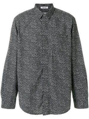 Рубашка с мелким цветочным рисунком Engineered Garments. Цвет: черный
