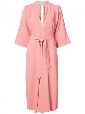 Платье-халат с поясом Tome. Цвет: розовый и фиолетовый