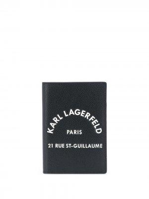 Обложка для паспорта Rue St Guillaume Karl Lagerfeld. Цвет: черный