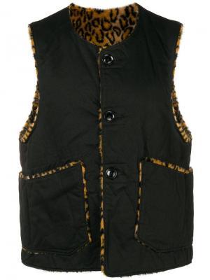 Двухсторонний жилет на пуговицах Engineered Garments. Цвет: черный