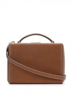 Маленькая каркасная сумка Grace Mark Cross. Цвет: коричневый
