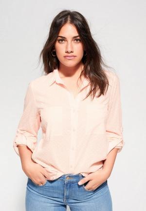 Блуза Violeta by Mango. Цвет: розовый