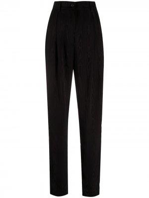 Трикотажные брюки прямого кроя Alberta Ferretti. Цвет: черный