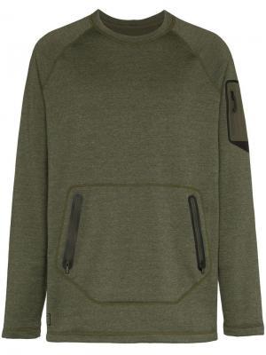 Джемпер Piston с карманами на молнии Burton Ak. Цвет: зеленый