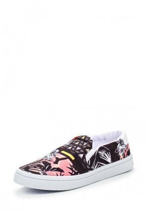 Слипоны adidas Originals. Цвет: разноцветный