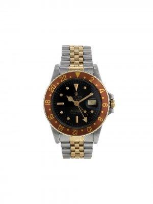 Наручные часы GMT-Master pre-owned 40 мм 1977-го года Rolex. Цвет: черный