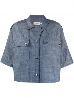 Джинсовая рубашка свободного кроя Coach. Цвет: синий
