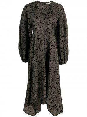 Платье миди Gus с пышными рукавами Stine Goya. Цвет: зеленый