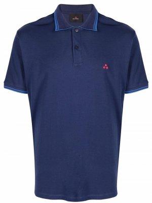 Рубашка поло с логотипом Peuterey. Цвет: синий