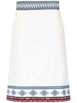 Юбка Amelie с вышивкой Isolda. Цвет: белый