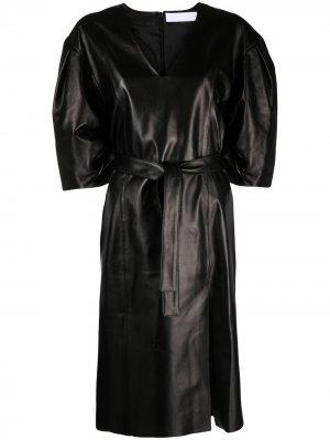 Платье с поясом Drome. Цвет: черный