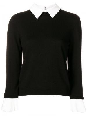 Aster ruffle cuff sweater Alice+Olivia. Цвет: черный