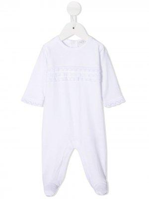Пижама с оборками в технике кроше Kissy. Цвет: белый
