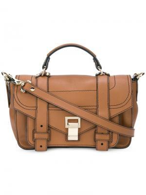 Маленькая сумка через плечо PS1+ Proenza Schouler. Цвет: красный