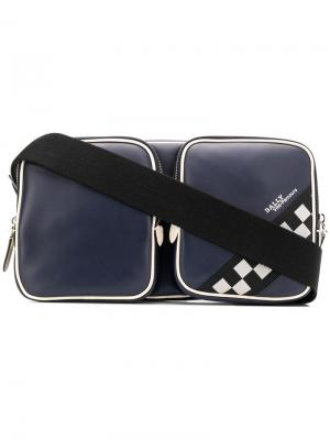 Checkered trim sling bag Bally. Цвет: синий