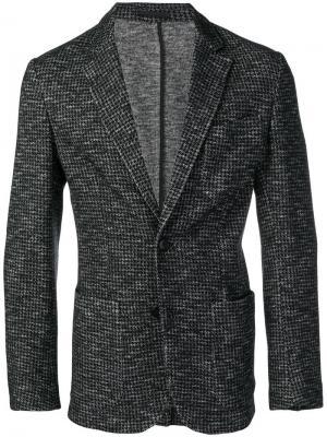 Пиджак в ломаную клетку Z Zegna. Цвет: серый