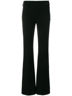 Расклешенные брюки с декоративными пуговицами Emilio Pucci. Цвет: черный