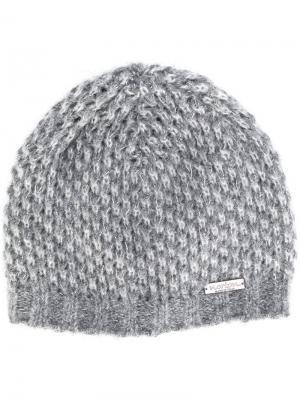 Вязаная шапка-бини Norton. Цвет: серый