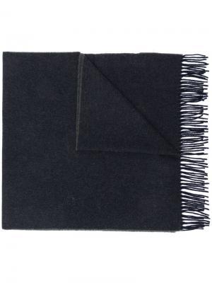 Трикотажный шарф с бахромой Canada Goose. Цвет: синий