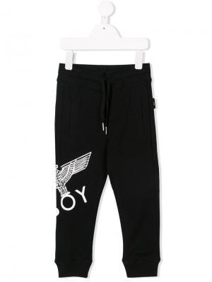 Eagle print track pants Boy London Kids. Цвет: черный